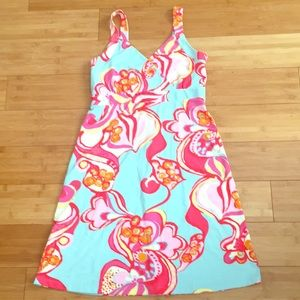 NWT J. McLaughlin Aqua floral dress